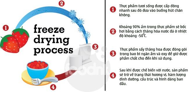 Nguyên lý của sấy thăng hoa freeze drying
