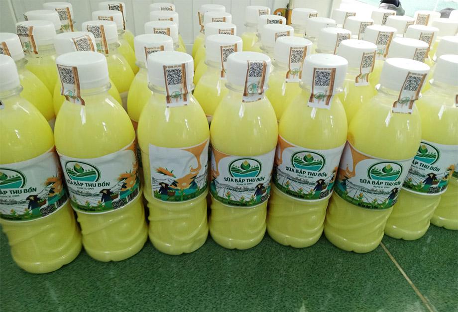 Sữa bắp Thu Bồn, một sản phẩm từ HTX địa phương