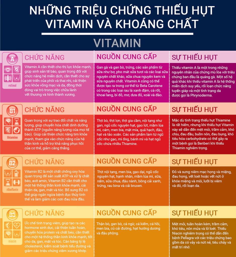 Bạn sẽ không cần phải lo về vấn đề thiếu hụt vitamin và khoáng chất nếu có thói quen tiêu thụ đa dạng nhiều loại thực phẩm.
